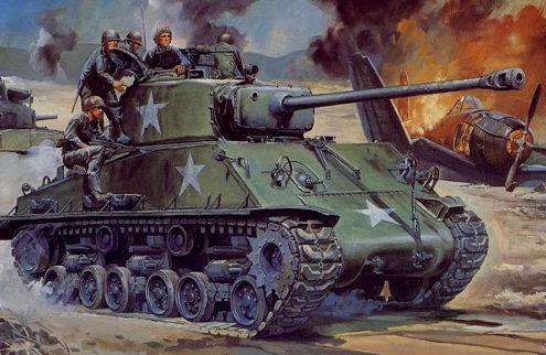 Hasegawa Tohaku. Танк M-4A3E8.
