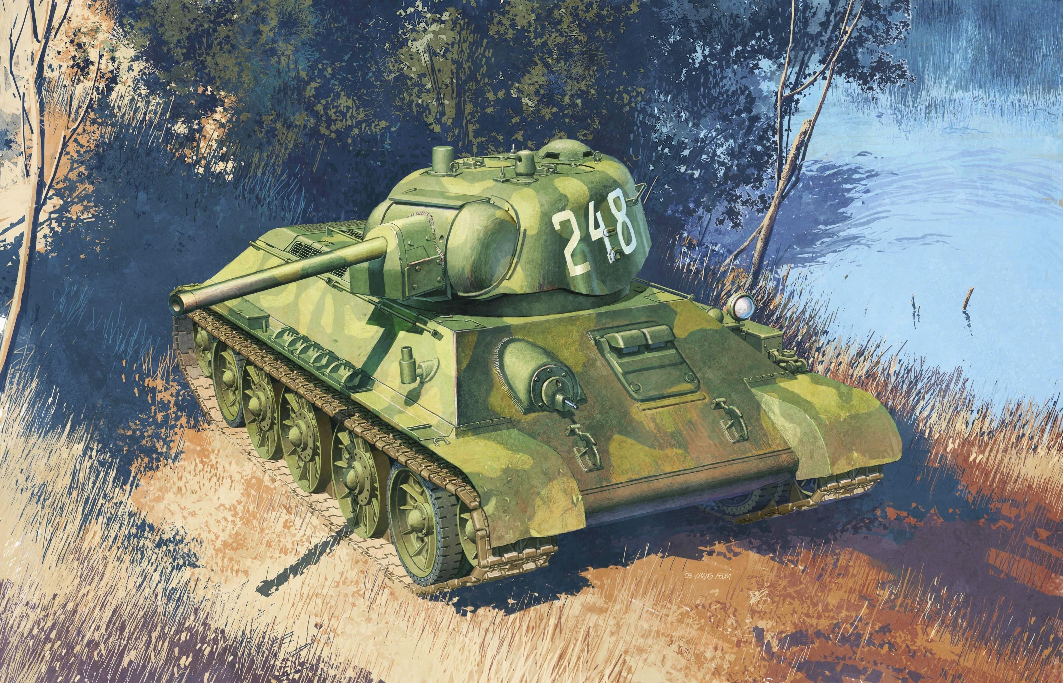 Heum Chang. Танк Т-34/76.
