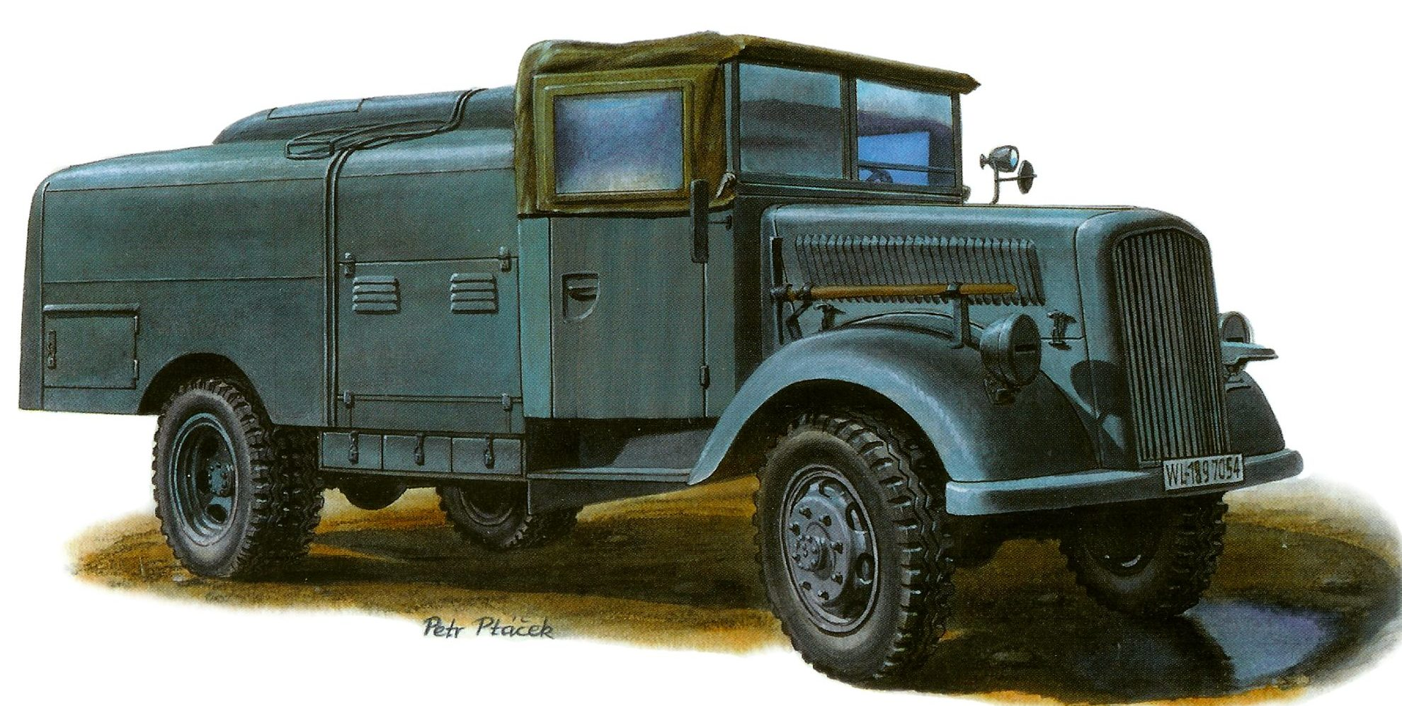 Ptácek Petr. Заправщик ракетного топлива Opel Blitz T Stoffwagen.
