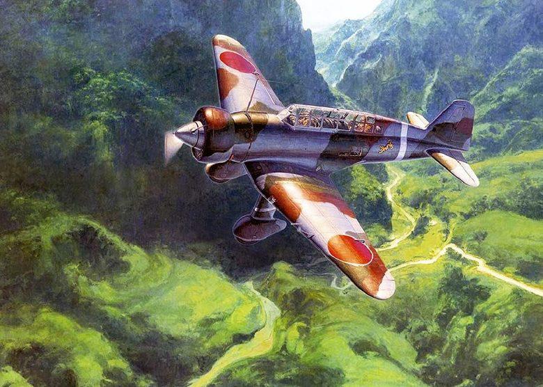 Shigeo Koike. Истребитель Mitsubishi Ki-15.
