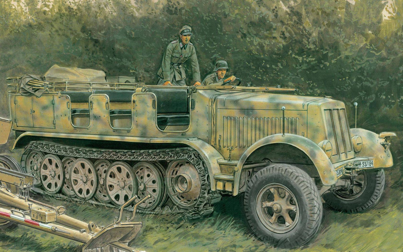 Volstad Ronald. Полугусеничный транспортер Sd.Kfz.7 8(t).