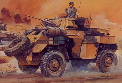 Hasegawa Tohaku. Бронеавтомобиль Humber Mk.II.