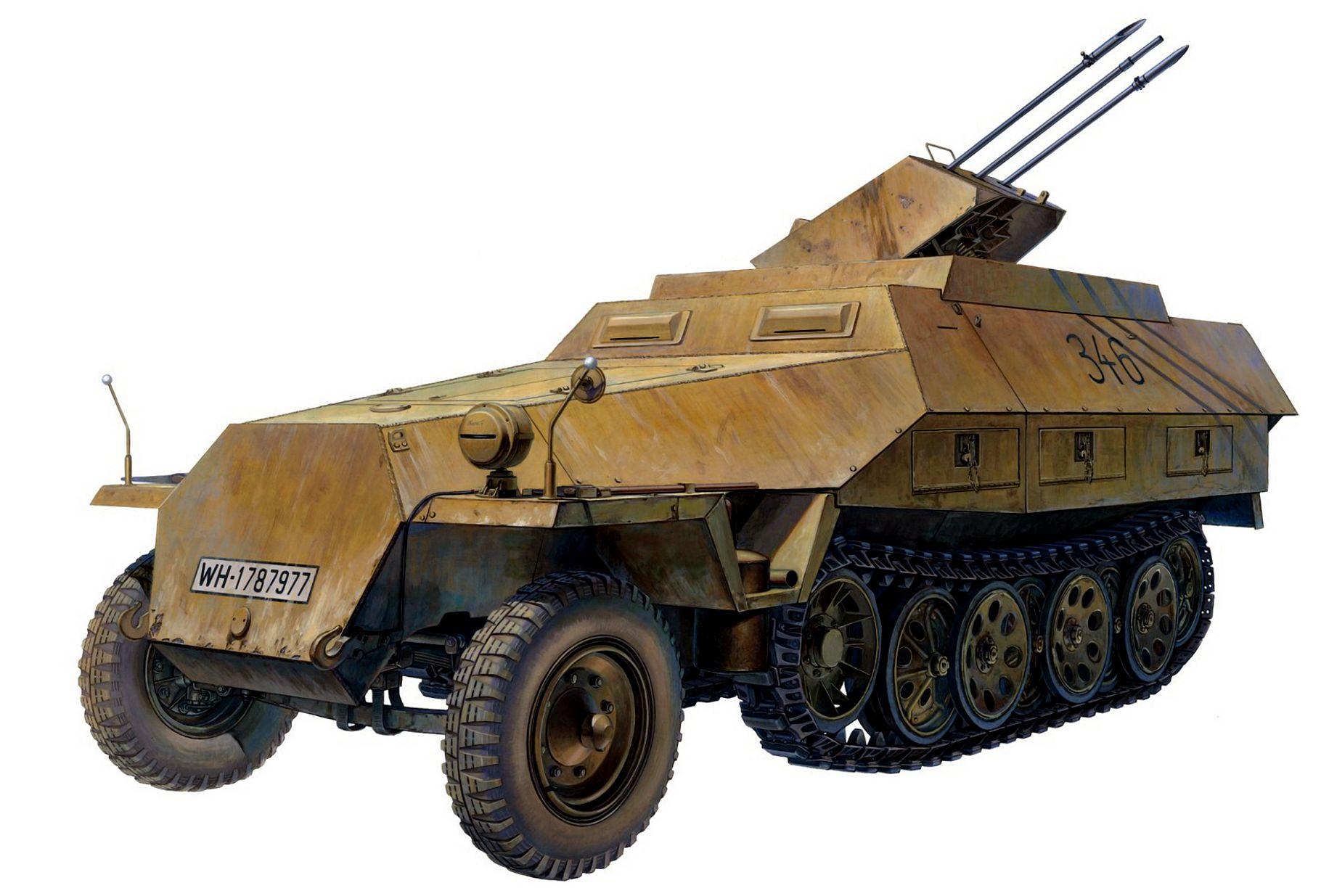 Sasaki H. & Kurokawa T. ЗСУ Flak 38/20 mm Sd.Kfz. 251.