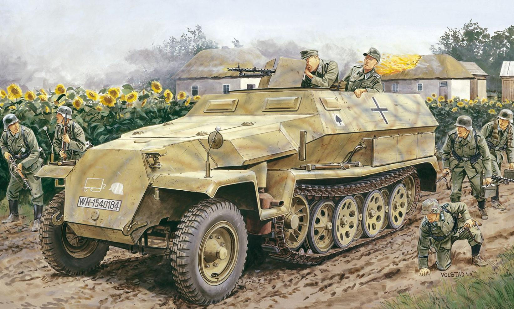 Volstad Ronald. Полугусеничный бронетранспортер Sd.Kfz. 251 Ausf. C.