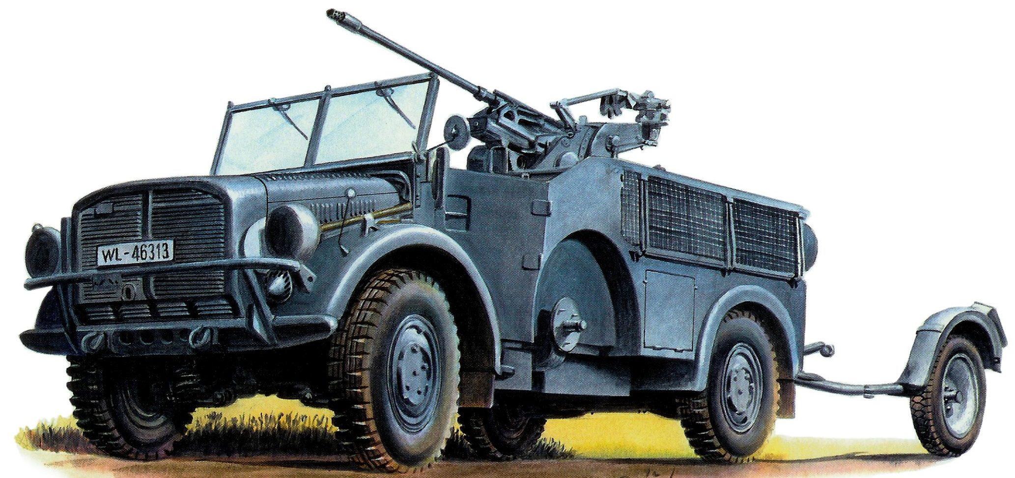 Ptácek Petr. САУ Flak 30/20mm на базе Horch 108 Kfz.70.