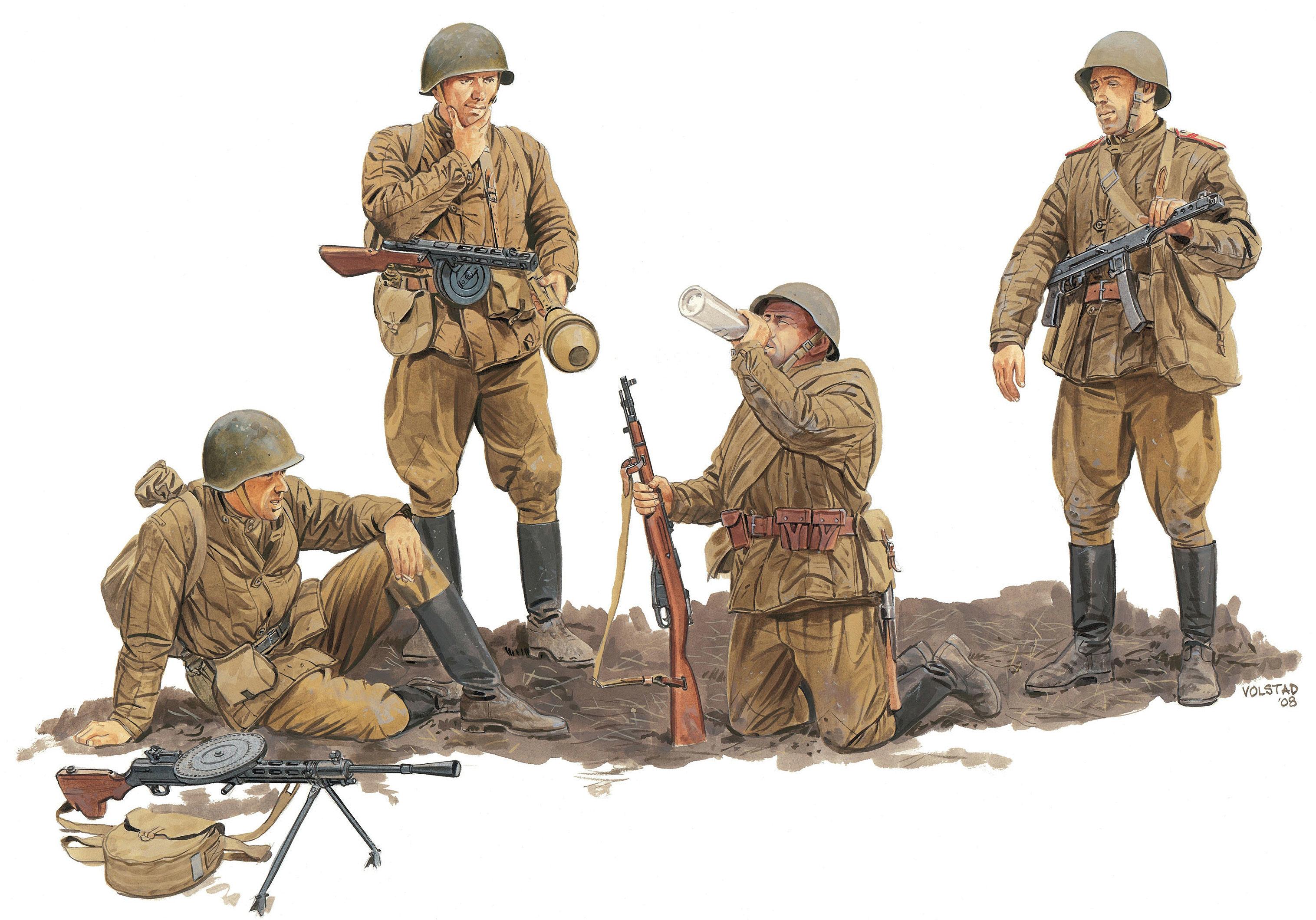 Volstad Ronald. Советская пехота.