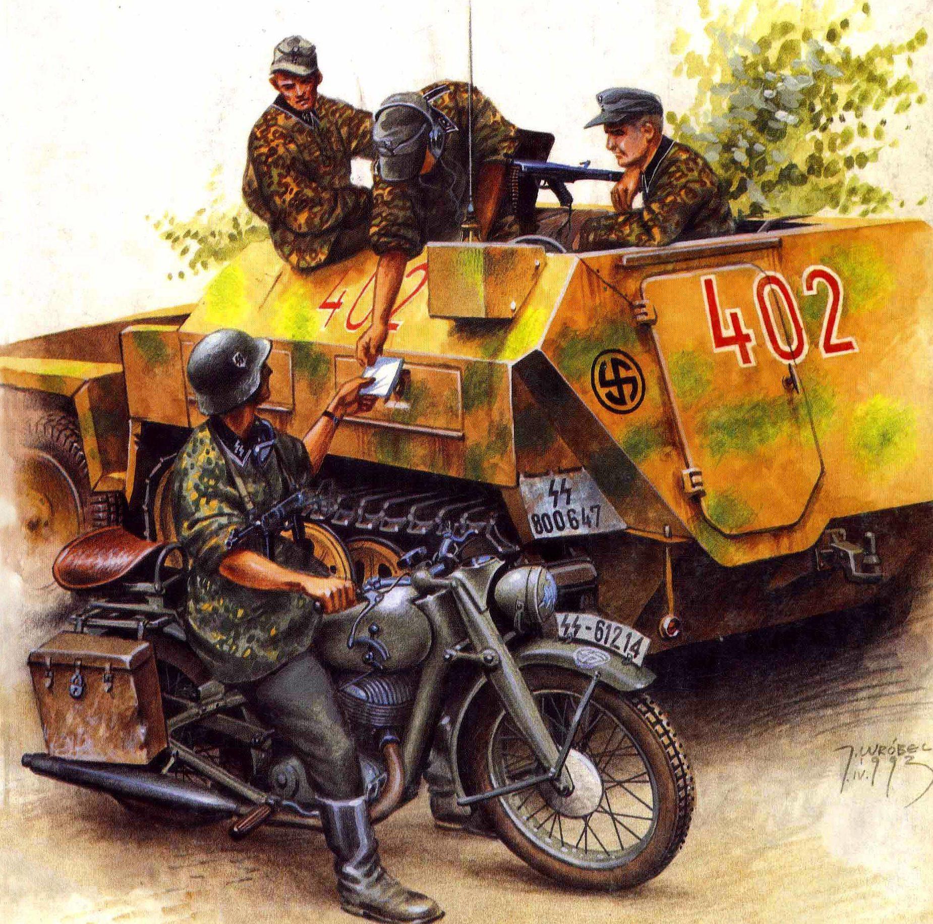 Wrobel Jaroslaw. Бронеавтомобиль Sd.kfz. 250.