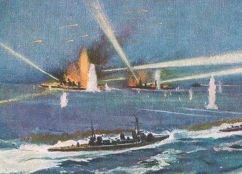 Matsunosuke Koshima. Морской бой.