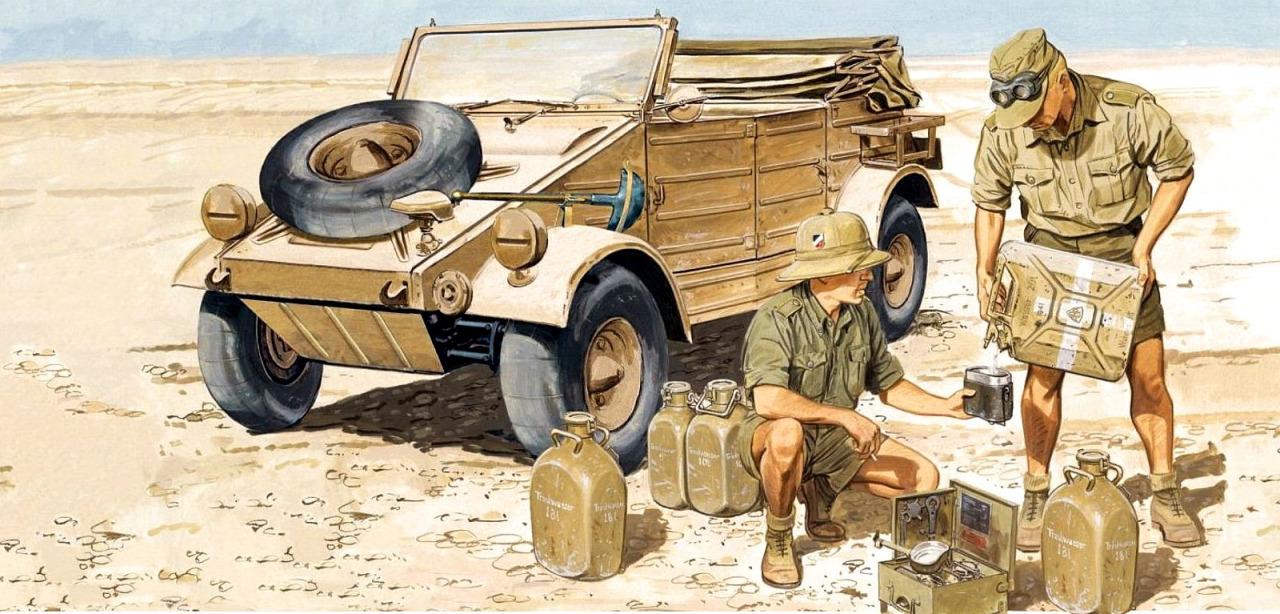 Volstad Ronald. Внедорожник Kübelwagen 82. Африканский корпус.