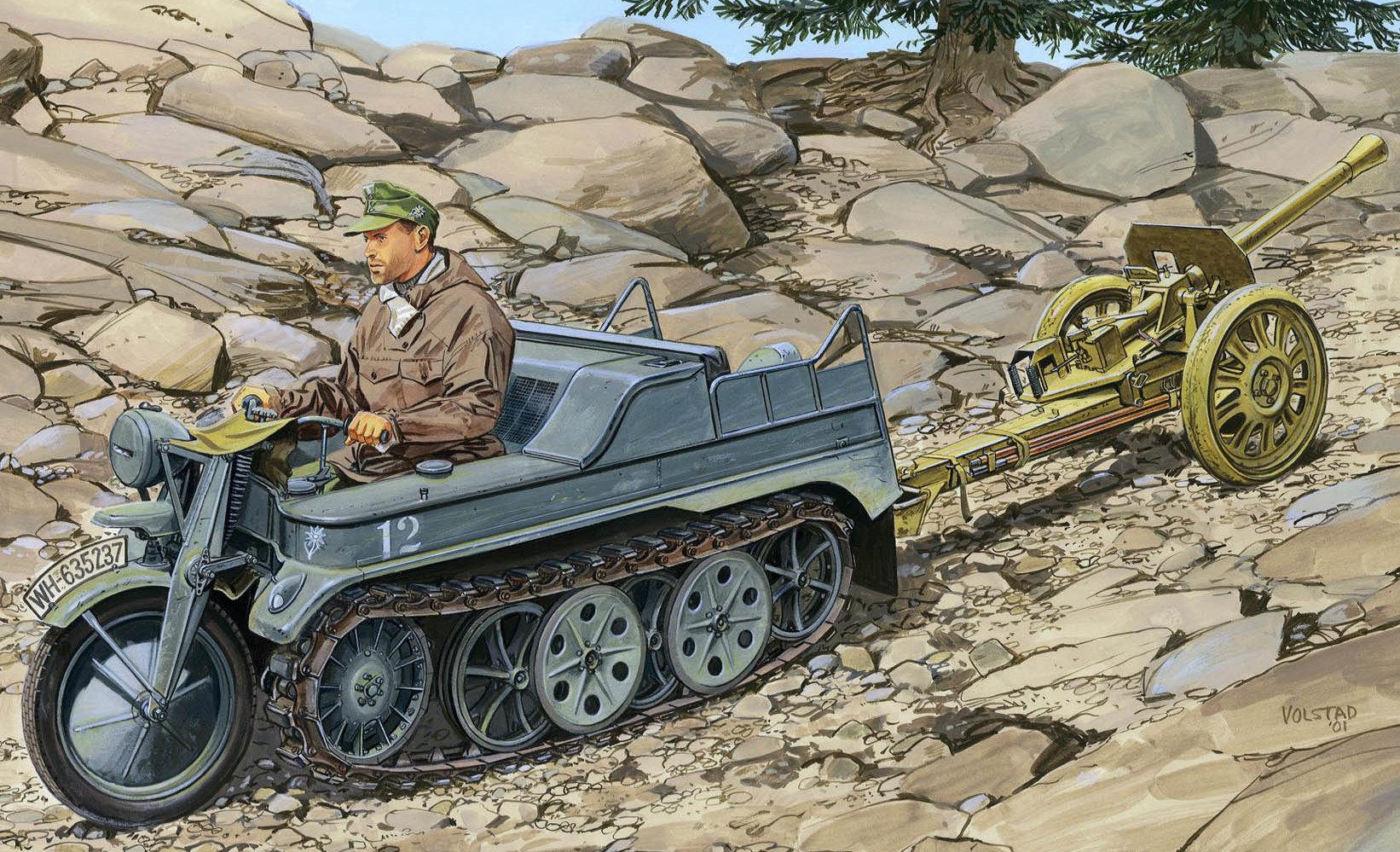 Volstad Ronald. Немецкий лёгкий артиллерийский тягач SdKfz 2.