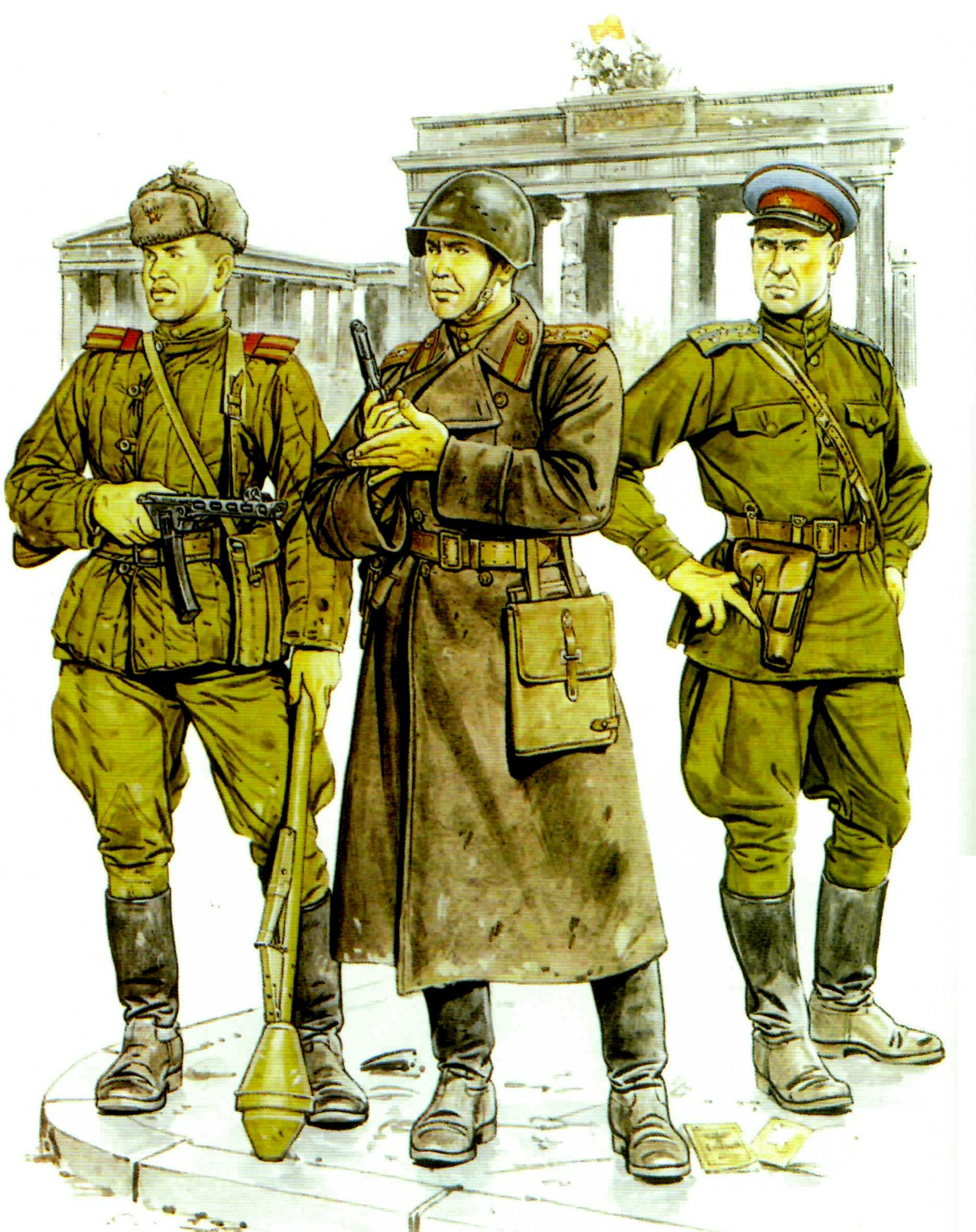Volstad Ronald. Советские бойцы в Берлине.