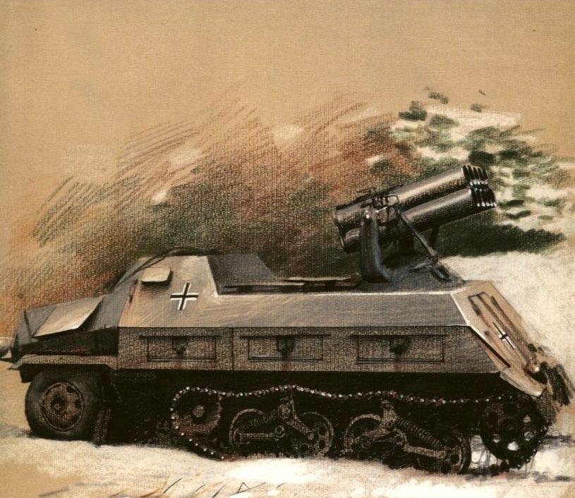 Wrobel Jaroslaw. Бронеавтомобиль 4-1 sWS 15-cm Panzerwerfer 42 Auf Maultier.