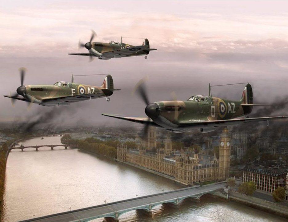 Meyer Dieter. Истребители «Spitfire» над Лондоном.