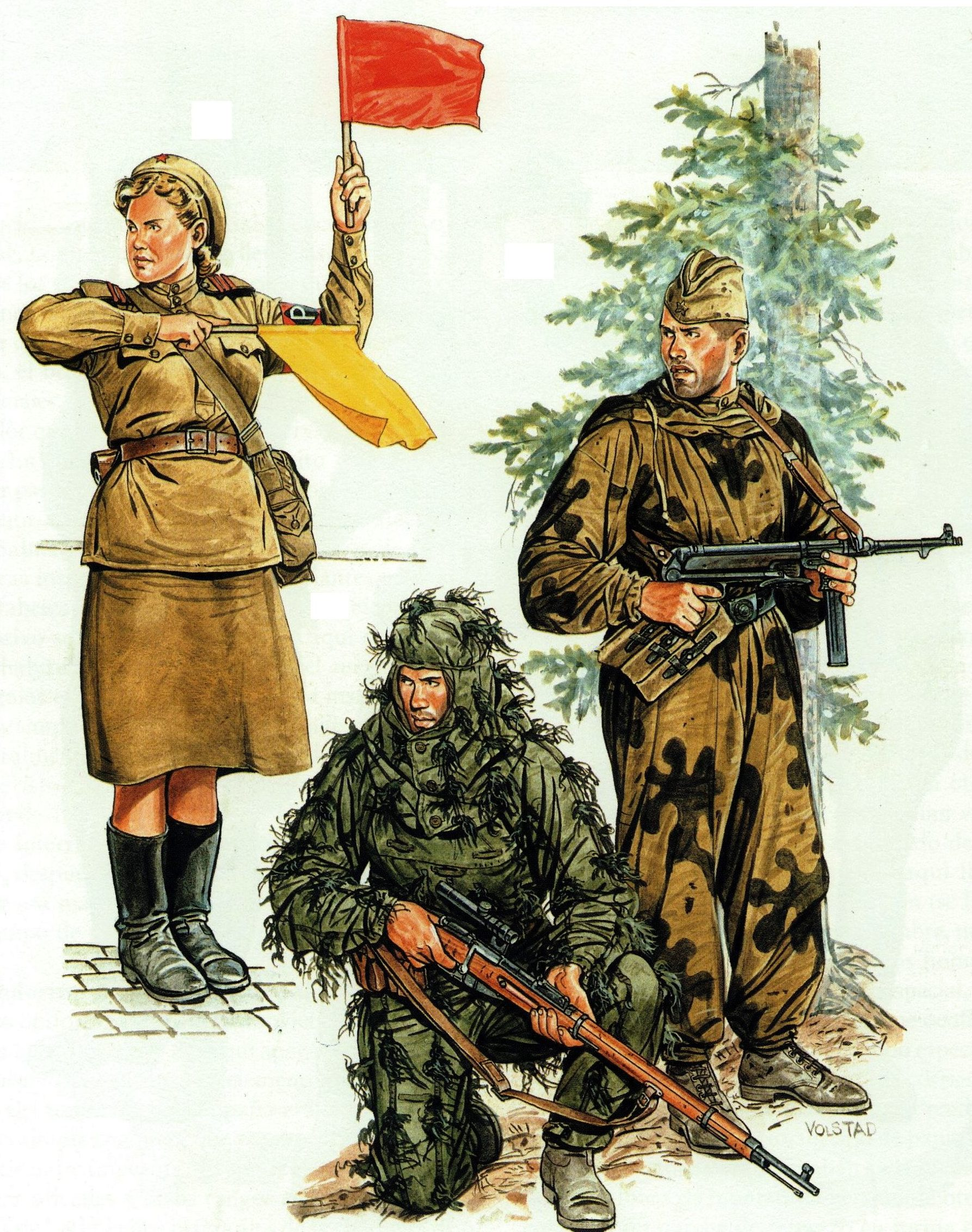 Volstad Ronald. Советские солдаты.