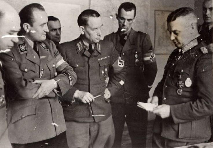 Артур Аксман, Вальтер Модель и Фридрих Карл Флориан. 1944 г.
