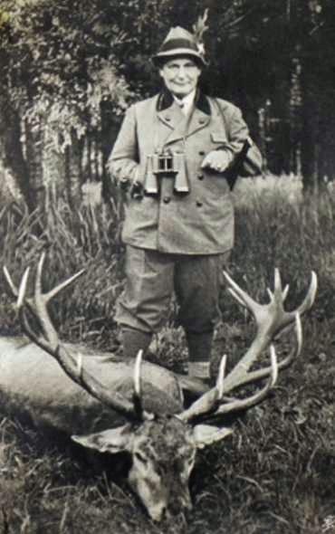 Герман Геринг на охоте. 1941 г.
