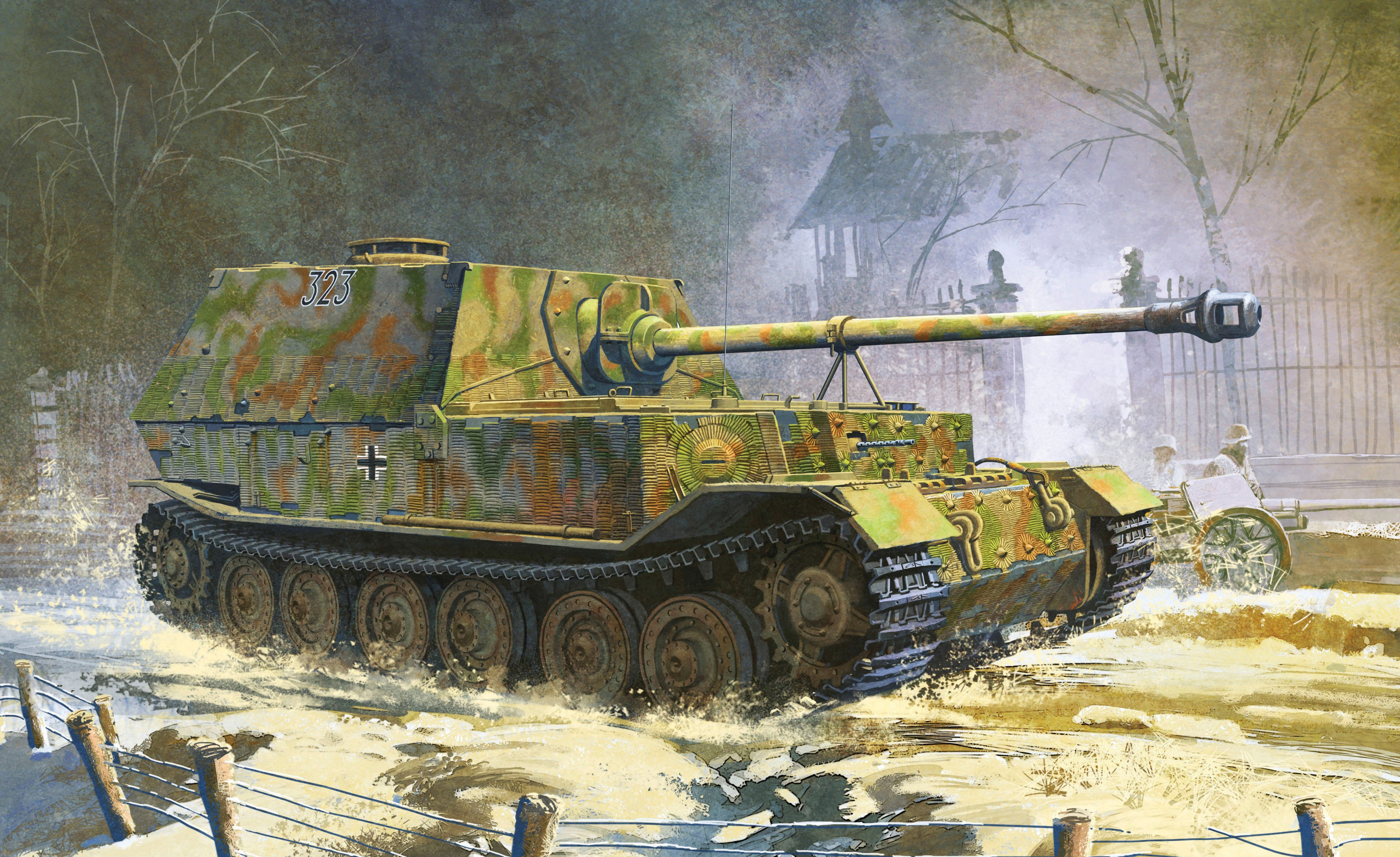 Heum Chang. САУ Sd.Kfz. 184 Elefant.