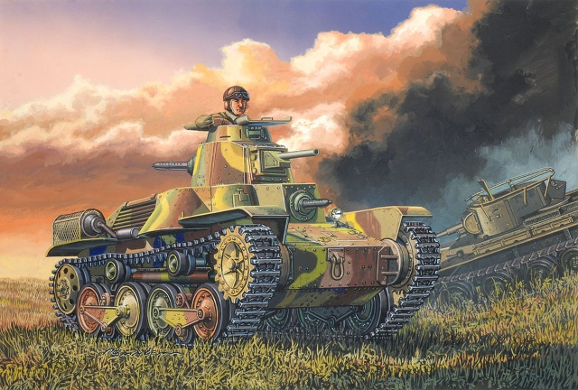 Satake Masao. Танк Type 95 Ha-Go.