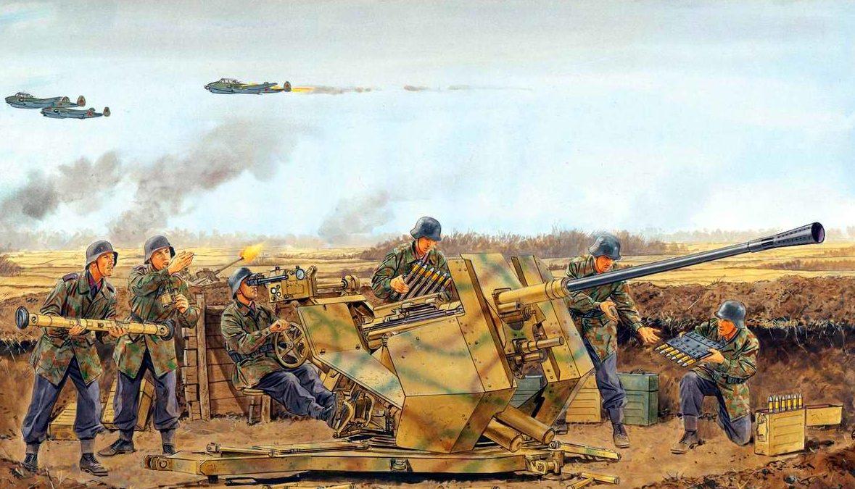 Volstad Ronald. Расчет зенитного орудия 3.7-cm Flak 37.