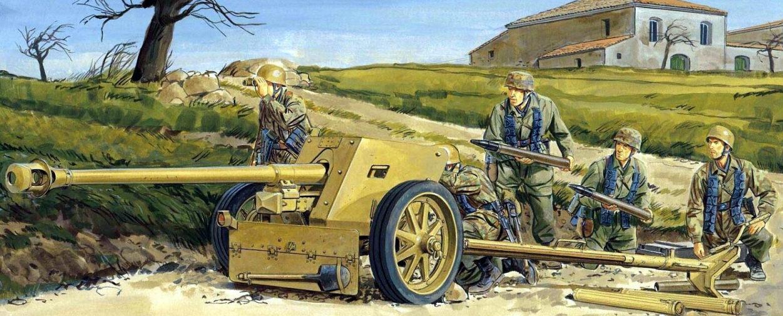 Volstad Ronald. Расчет противотанкового орудия Pak-40 7.5-cm.