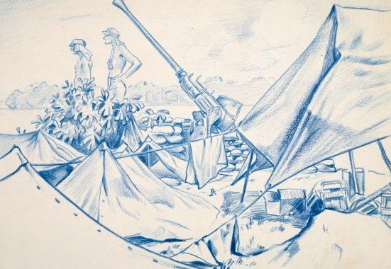 Barns-Graham Allan. Артиллерийская позиция.