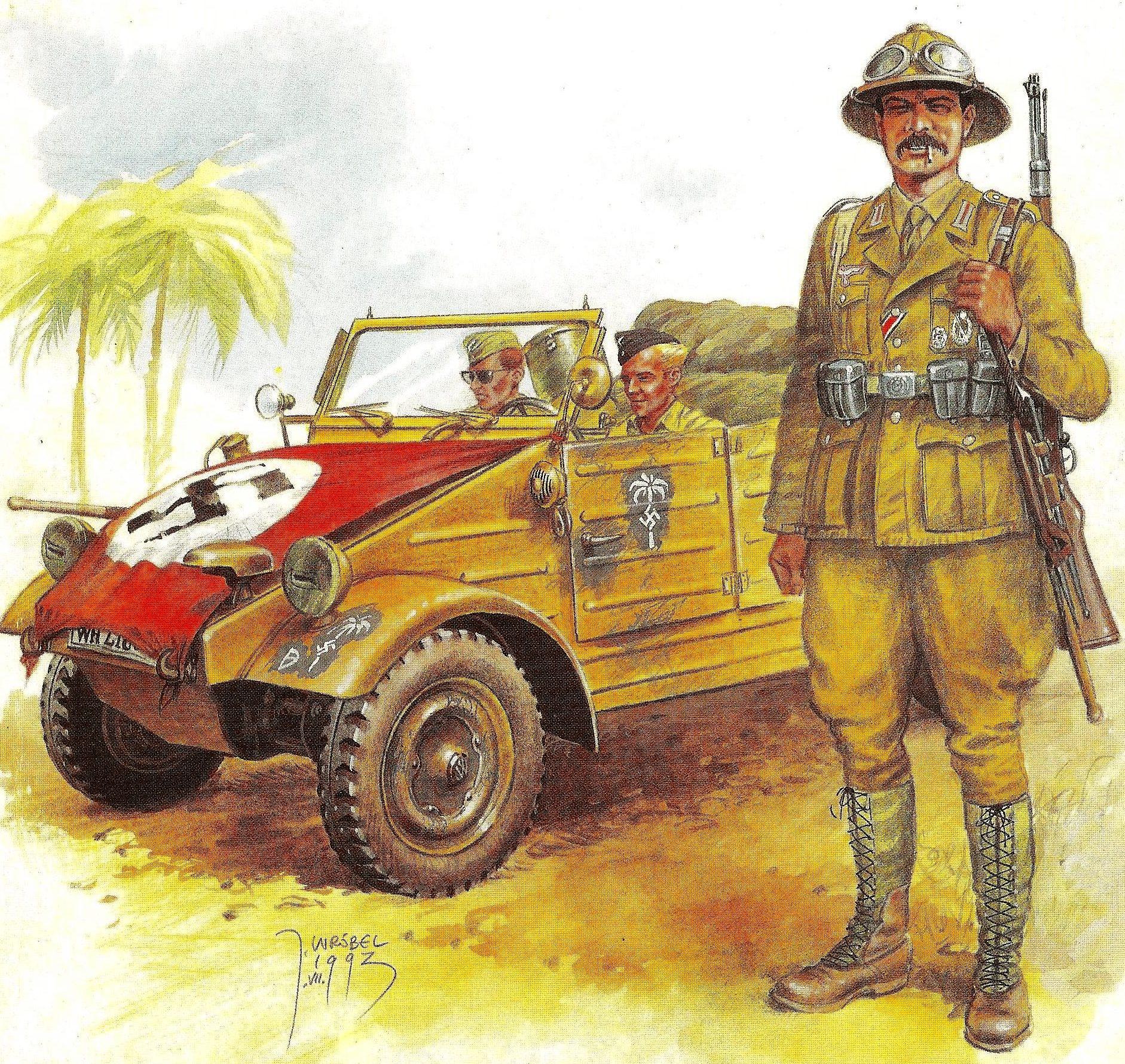 Wrobel Jaroslaw. Внедорожник Kübelwagen Type 82.
