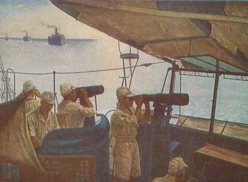 Okubo Sakujiro. Сопровождение конвоя.