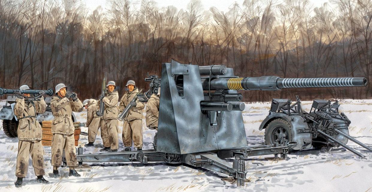 Volstad Ronald. Зенитное орудие 88-mm Flak 36.