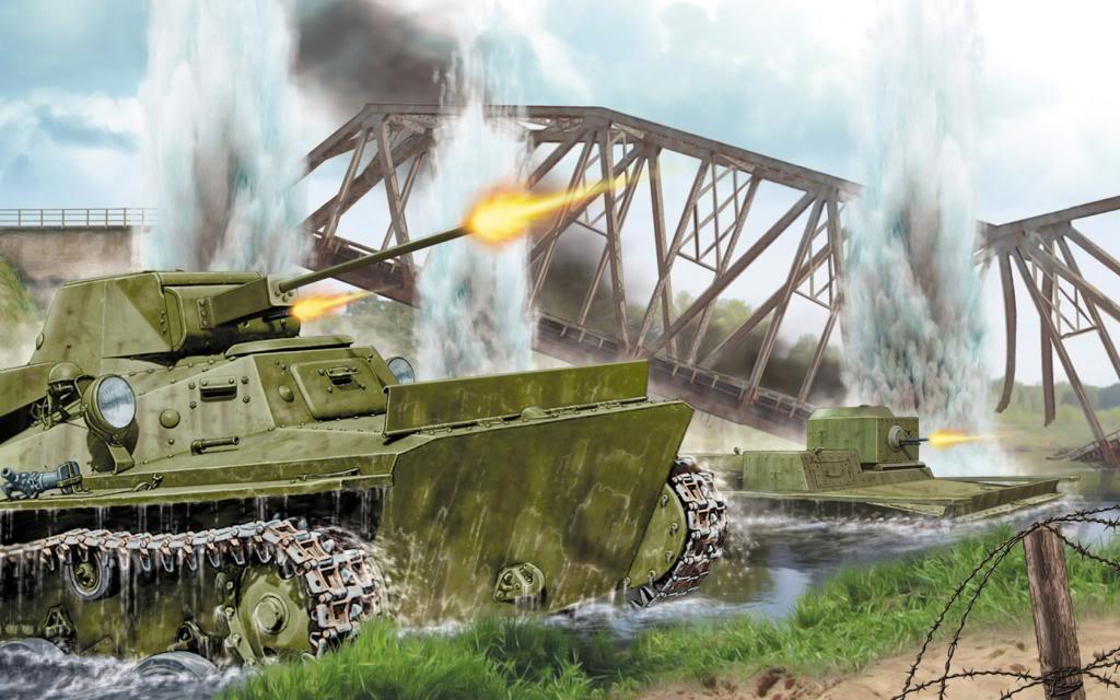 Wai Vincent. Танки Т-40с и Т-38.