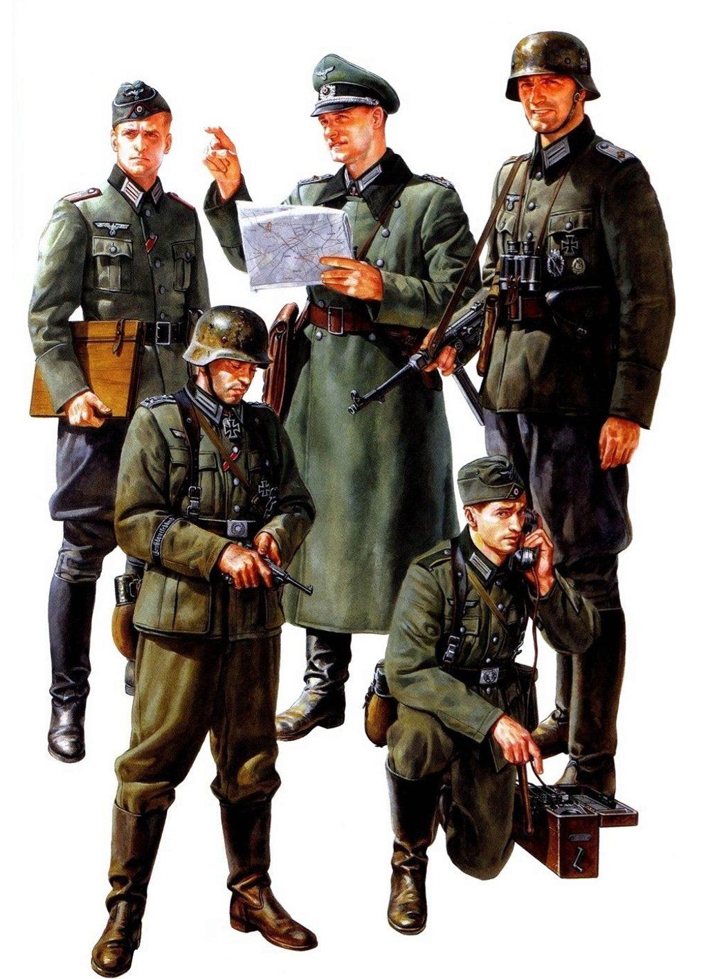 Onishi Masami. Немецкое пехотное командование.