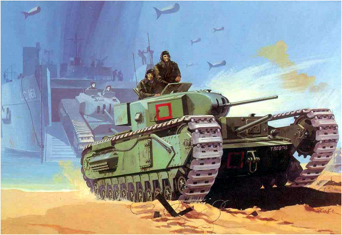 Shigeo Koike. Танк Churchill Mk.I.
