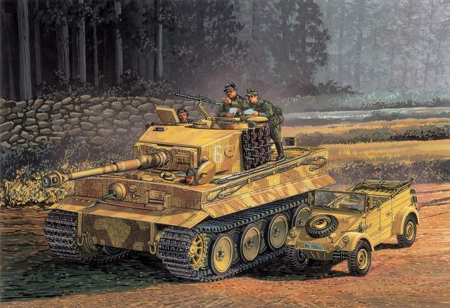 Satake Masao. Танк Tiger I.