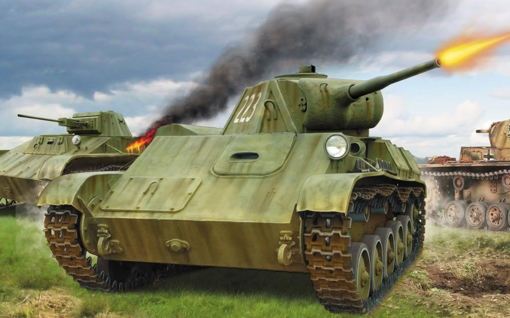 Wai Vincent. Танки Т-50 и Т-70.
