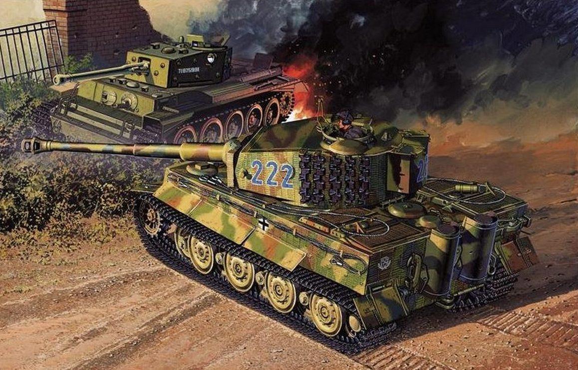 Satake Masao. Танковый бой.