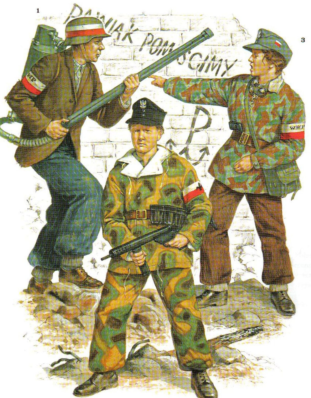 Участники Варшавского восстания.