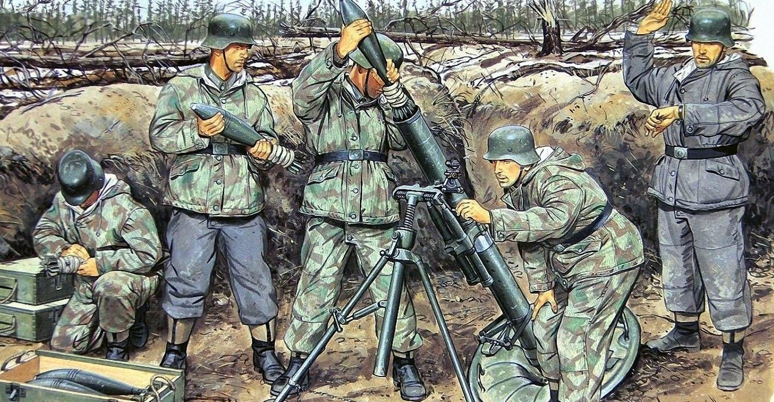 Volstad Ronald. Миномет 12-cm Granatwerfer.