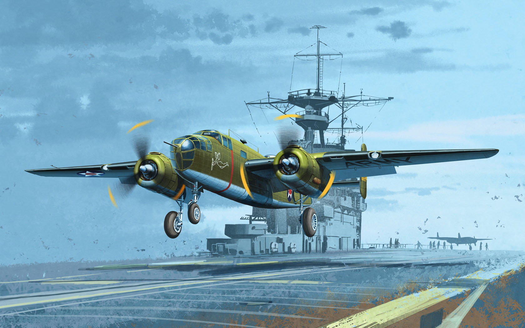Heum Chang. Бомбардировщики В-25.