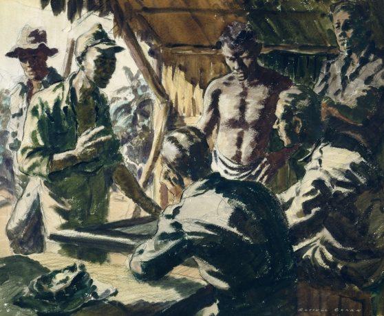 Clark Russell. Допрос японских пленных.