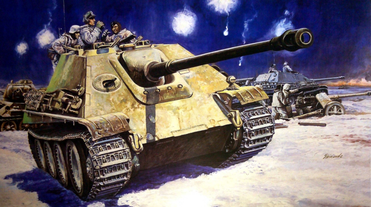 Ueda Shin. Танк Jagdpanther.