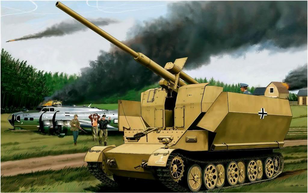 Su Lei. ЗСУ Pz.Sfl. IVc. Versuchsflakwagen 8.8-cm Flak.