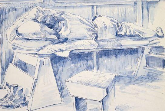 Barns-Graham Allan. Спящий солдат.