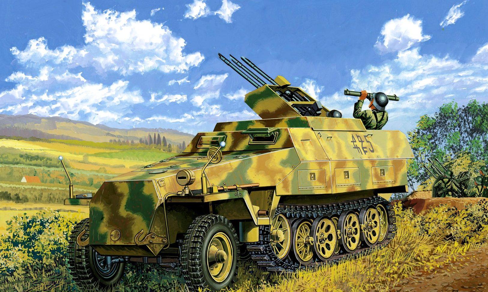 Satake Masao. Бронетранспортер Sd.Kfz. 251/21 Ausf. D.