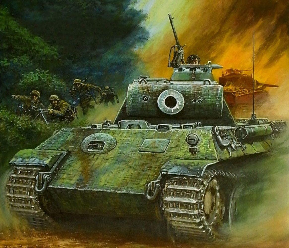 Ueda Shin. Танк Panther.