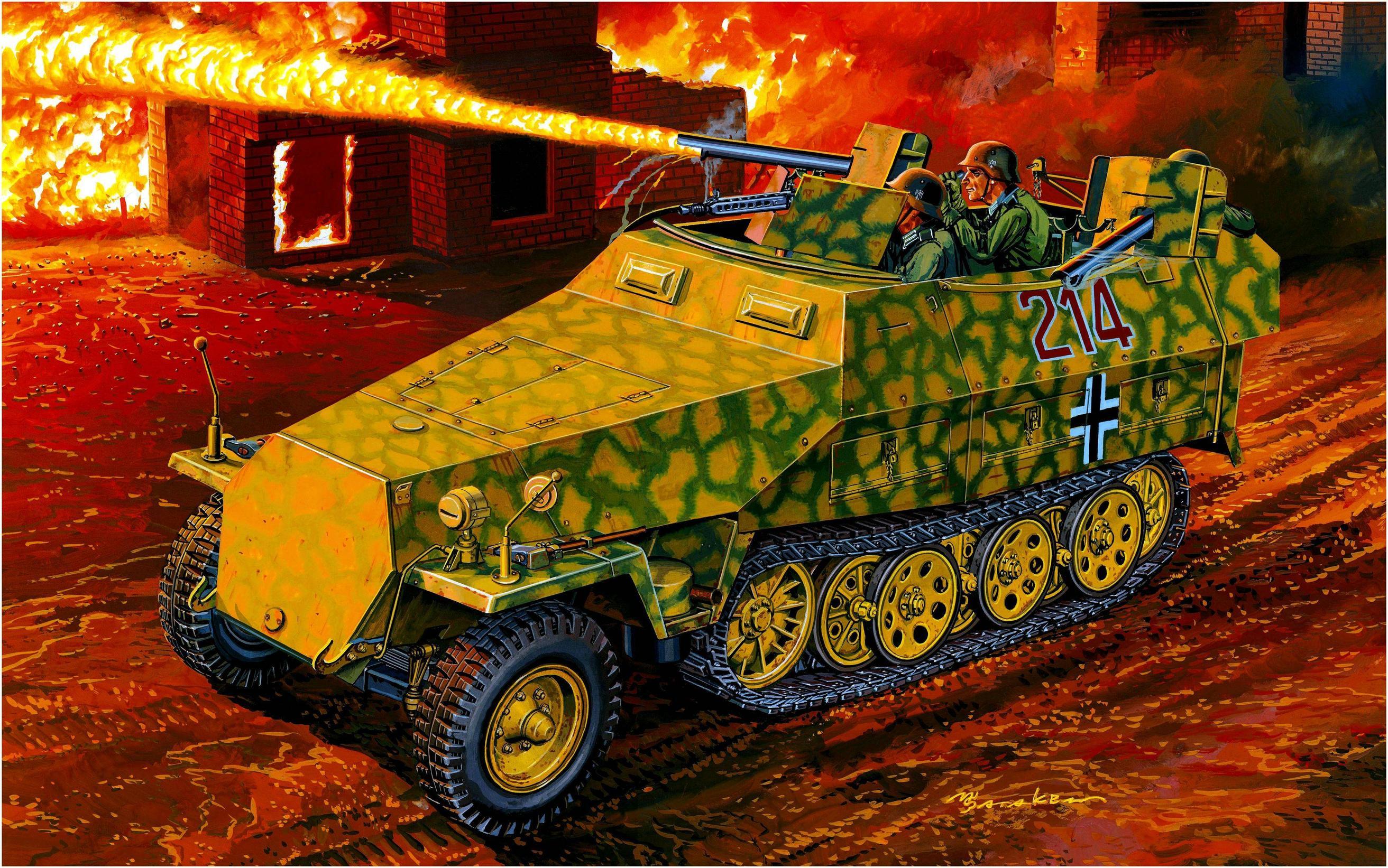 Satake Masao. Бронетранспортер Sd.Kfz. 251/16 Ausf. D с огнеметом.