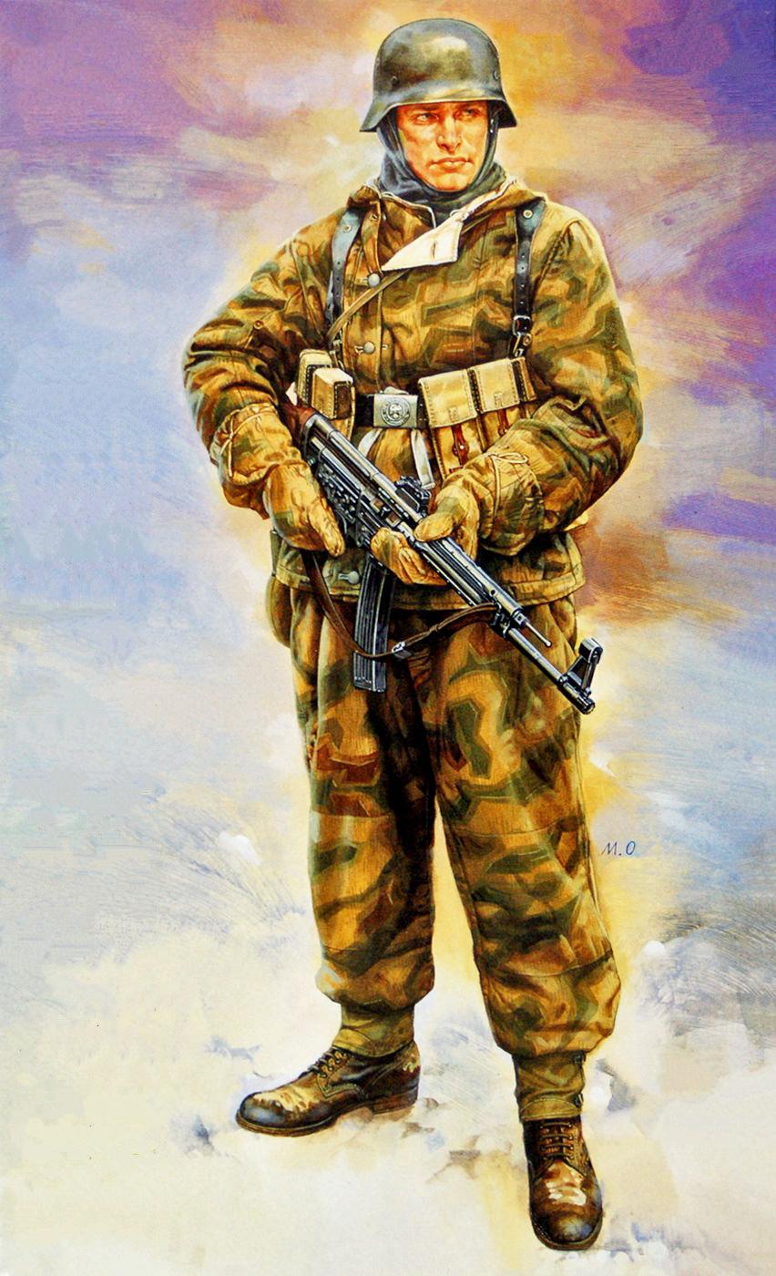 Onishi Masami. Немецкие солдаты.