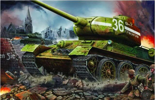 Wai Vincent. Танки Т-34-85 в Берлине.