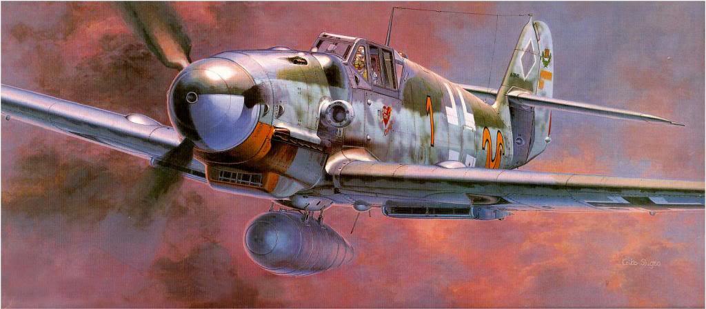 Shigeo Koike. Истребитель Bf-109G-6.