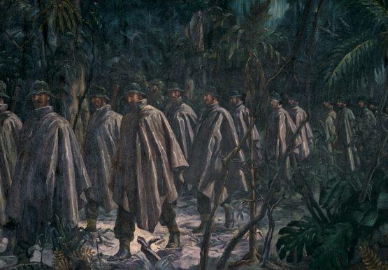 Barns-Graham Allan. Солдаты в джунглях.