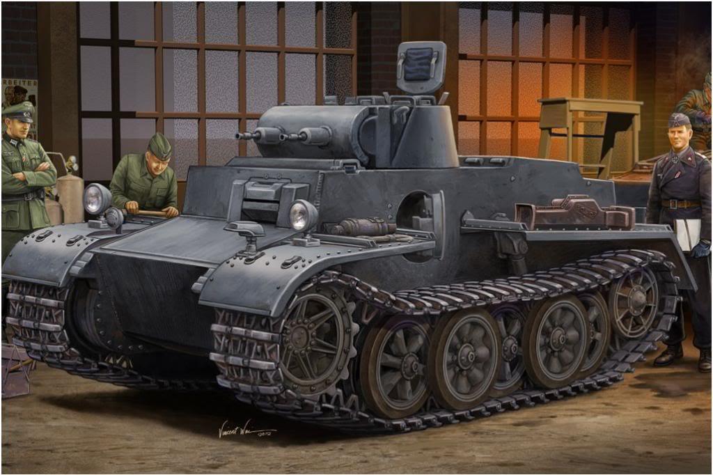 Wai Vincent. Танк Panzer I Ausf. F.