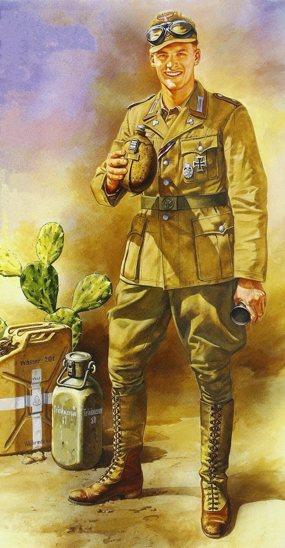 Onishi Masami. Немецкая пехота африканского корпуса.